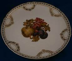 Antique Nouveau Kpm Berlin Porcelain Fruit Plate