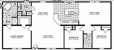 1600 square foot house plans 1600 sq ft the tnr 46015b manufactured home floor plan