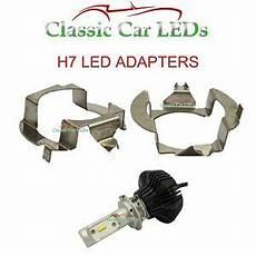 2x h7 led headlight bulb adapters holders mercedes e vw