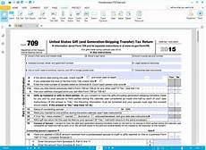 instructions for how to fill in irs form 709