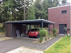 Moderne Carportanlage Mit Abstellr 228 Umen Carporthaus