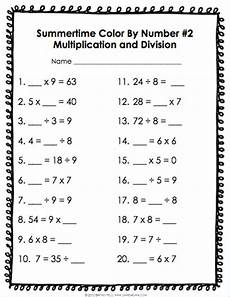 algebra worksheets for grade 3 8409 color by number math review for 3rd grade 4 gains