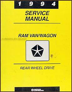 car repair manuals online pdf 1994 dodge ram van b150 parental controls 1994 dodge ram van wagon repair shop manual original b100 b350