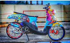 Modif Scoopy Minimalis by Modifikasi Honda Scoopy Ala Thailook Minimalis Terbaru