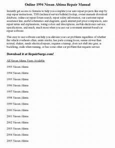 auto repair manual online 1994 nissan altima security system 1994 nissan altima repair manual online by clark andrew issuu
