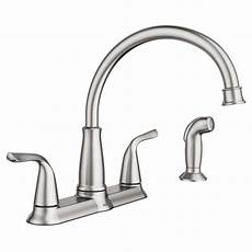 moen 2 handle kitchen faucet moen brecklyn 2 handle standard kitchen faucet with side sprayer in spot resist stainless