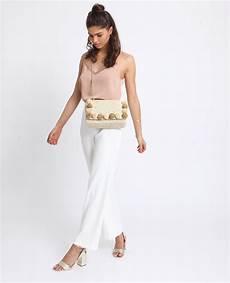 pantalon fluide et large blanc 140817765a07 pimkie