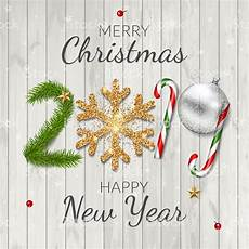 merry christmas and happy new year 2019 greeting card background stock illustration