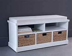 banc pour salle de bain banc avec paniers meuble mobilier banc
