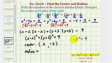 ex 3 write general equation of a circle in standard form