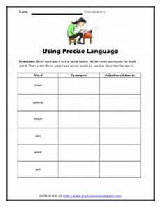 grade 6 vocabulary word worksheets
