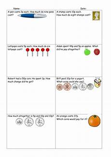 word problem worksheets year 1 11183 differentiated money word problems worksheets teaching resources