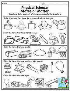 physical science states of matter this is a great exercise for third grade also there are