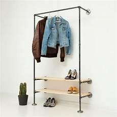 garderobe aus rohren garderobe mit schuhregal aus stahlrohr industrial