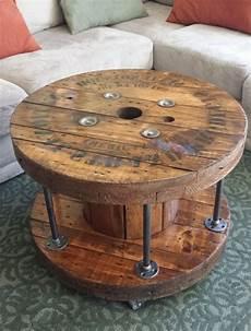 table basse bobine bois touret bois diy id 233 es faciles pour un meuble unique