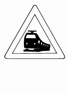 Verkehrsschilder Malvorlagen Gratis Achtung Zug Verkehrsschild Ausmalbild Malvorlage