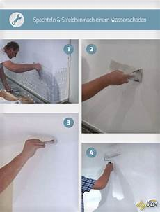 Tipps Beim Streichen - spachteln und streichen nach einem wasserschaden dom