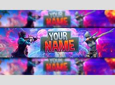 *100% FREE* Fortnite: Channel Art Banner Template