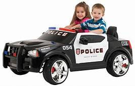 Electric Ride On Cars For Kids Charger Police Car