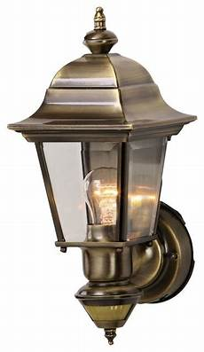 country cottage artisan brass outdoor motion sensor wall light traditional outdoor