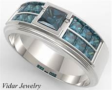 men s white gold blue diamonds wedding band vidar jewelry unique custom engagement and