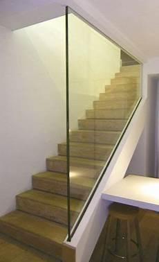 garde corps en verre garde corps d int 233 rieur en verre pour escalier 224