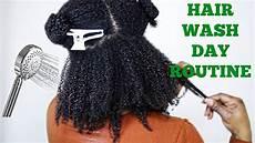 full natural hair wash day routine 4a 4b 4c hair jumieanne youtube