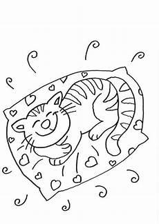 Malvorlagen Katzen Quiz Kostenlose Malvorlage Katzen Katze Schl 228 Ft Zum Ausmalen