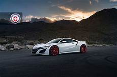 gallery 2017 acura nsx on frozen red hre p204 wheels acura connected