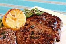 rib eye steak pan fried lemon garlic rib eye steaks