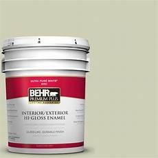 behr premium plus 5 gal s360 2 breathe hi gloss enamel interior exterior paint 805005 the