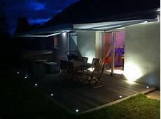 eclairage led exterieur terrasse eclairage terrasse ext 233 rieure avec spots led lc electricit 233