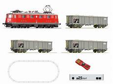 roco 51296 swiss digital starter z21 with electric locomotive ae 6 6 and goods train of