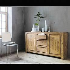 maison du monde credenza credenza a 2 ante e 3 cassetti in massello di legno di