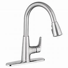 american standard kitchen faucet american standard colony pro single handle pull sprayer kitchen faucet in stainless steel
