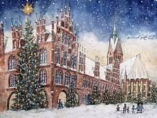 altes rathaus und marktkirche im winterlichen hannover