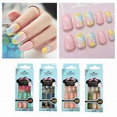 full sizes colorful 24pcs acrylic full cover nail tips