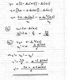 ln funktionsschar ableitung und nullstellen berechnen