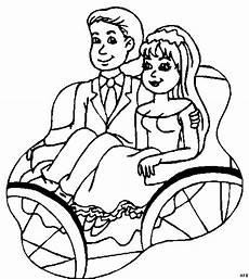 Brautpaar Ausmalbilder Malvorlagen Brautpaar In Kutsche Ausmalbild Malvorlage Gemischt