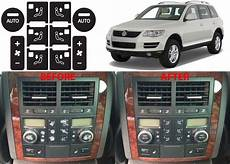 auto air conditioning repair 2009 volkswagen touareg navigation system rear climate control decal button stickers for 2004 2009 volkswagen touareg new ebay