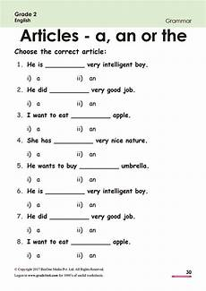free english worksheets for grade 1 and 2 articles worksheets free for grade 2 class 2 ib cbse icse k12