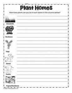plants habitat worksheets 13564 plant biome homes worksheets