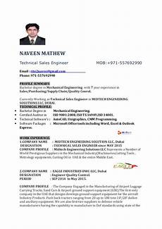 resume sales engineer