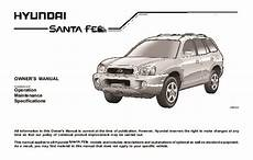 car maintenance manuals 2007 hyundai santa fe auto manual 2004 hyundai santa fe owners manual