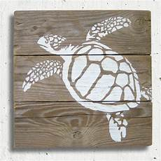 Holz Bemalen Vorlagen - turtle stencil painting on reclaimed wood turtle