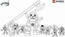 Ausmalbilder Lego Ninjago Lego Ninjago Skulkin Coloring Pages Team Colors