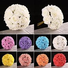 10 40pc diy rose flower latex real touch artificial