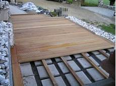Holzterrasse Selber Verlegen Garten Holzterrasse Und