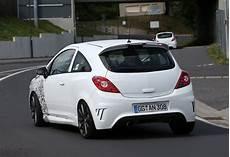 spyshots new opel corsa opc nurburgring testing