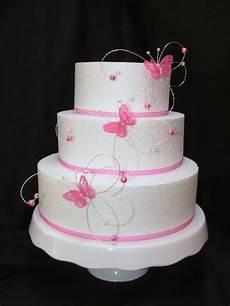 hot pink fushia crystal butterfly side wedding cake